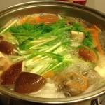 豚しゃぶは「だしつゆ」仕立てに水菜を入れて食べると最高に美味い!